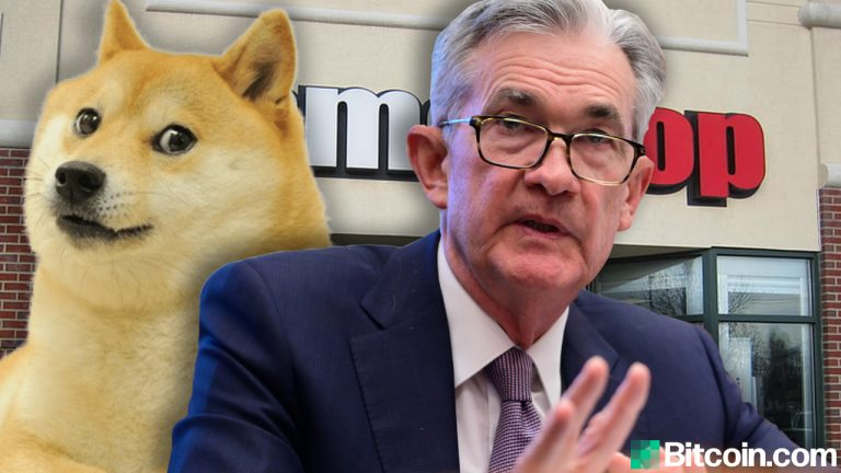fed chair jerome powell says dogecoin and gamestop hype highlights froth in equity markets