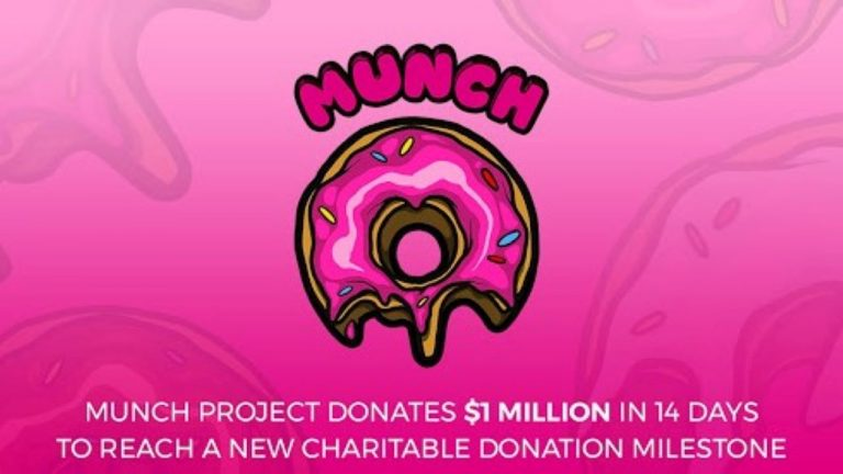 munch project reaches 1 million milestone in charitable donations