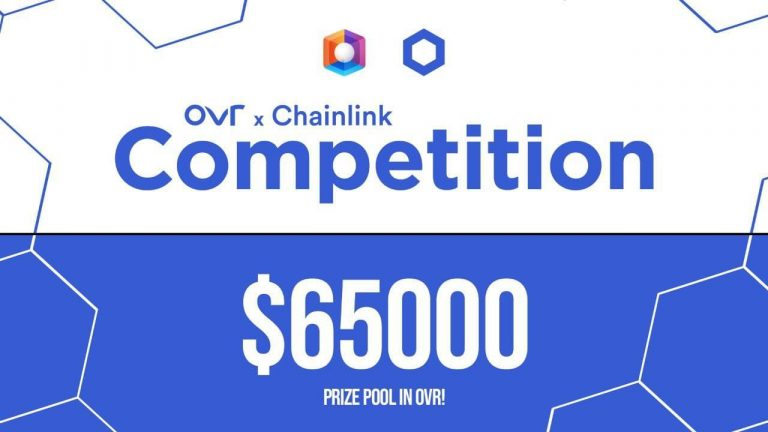 chainlink and ovr collaborate on a 65k prize distribution